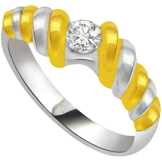 Diamond Solitaire Gold rings SDR556