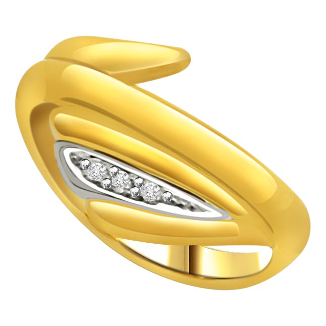 Two -Tone Diamond Gold rings SDR560 -3 Diamond rings