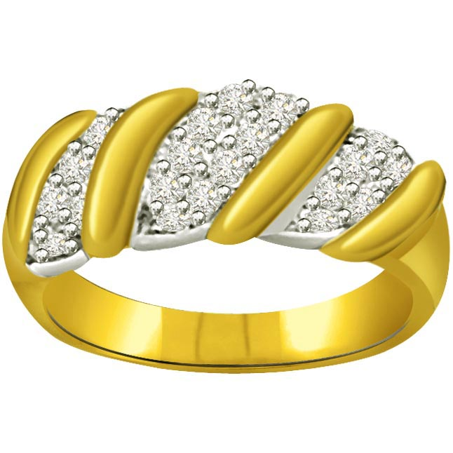 Classic Diamond Gold rings SDR573