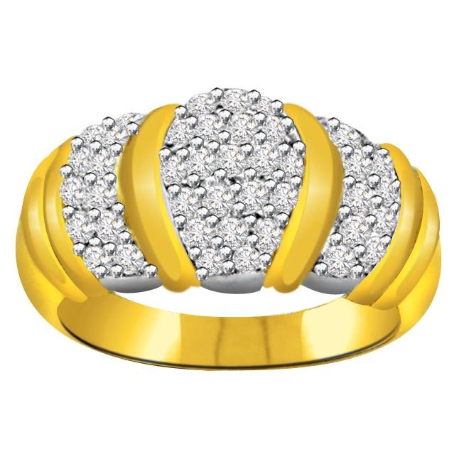 Trendy Diamond Gold rings SDR574