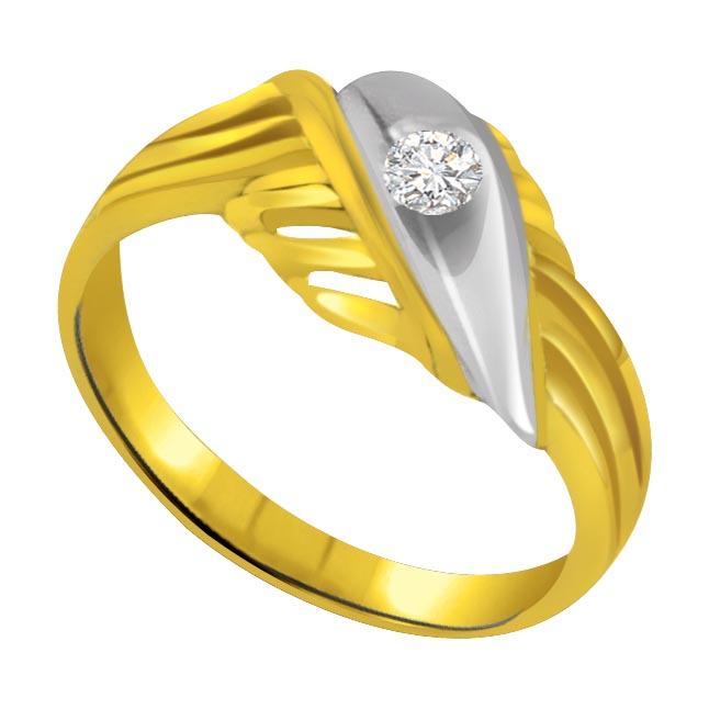 Two -Tone Diamond Gold rings SDR575
