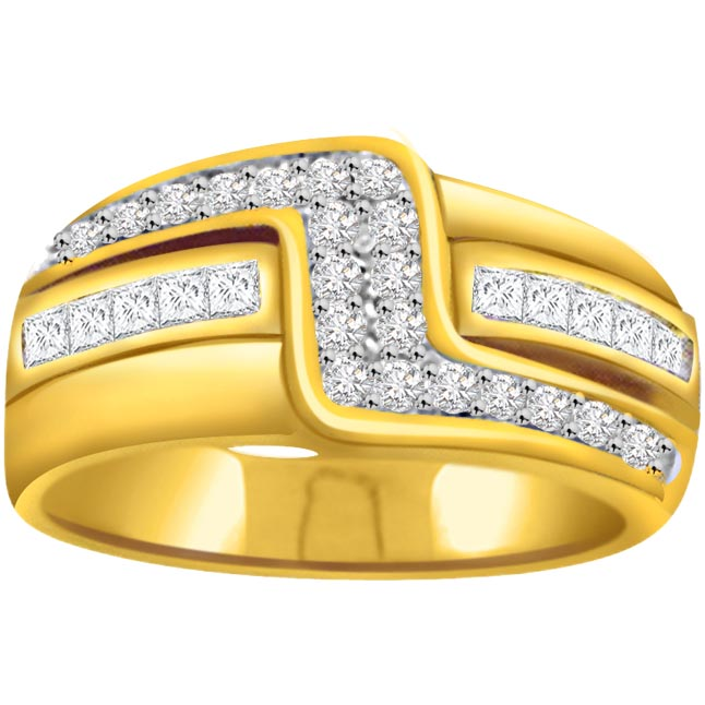 Classic Diamond Gold rings SDR579