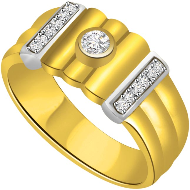 0.20 cts Two Tone Designer rings