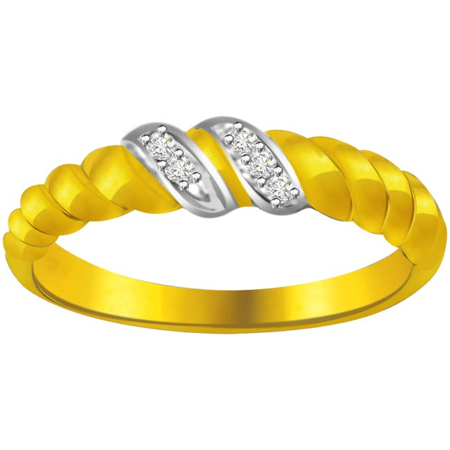 Classic Diamond Gold rings SDR588 -White Yellow Gold rings