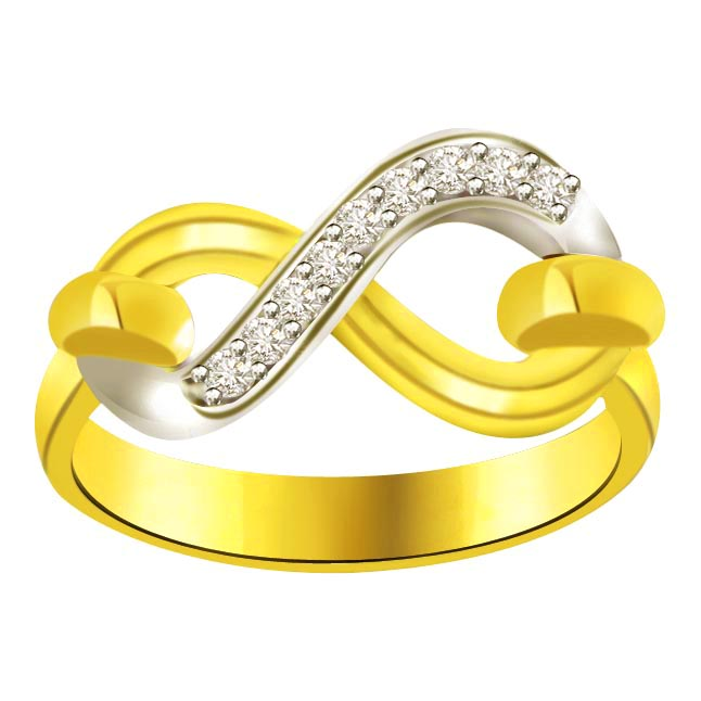 Classic Diamond Gold rings SDR591 -White Yellow Gold rings