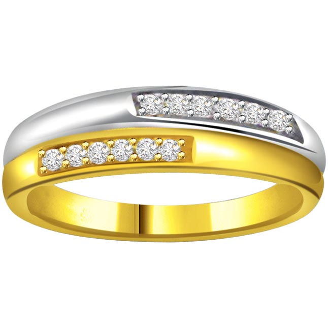 Classic Diamond Gold rings SDR598 -White Yellow Gold rings