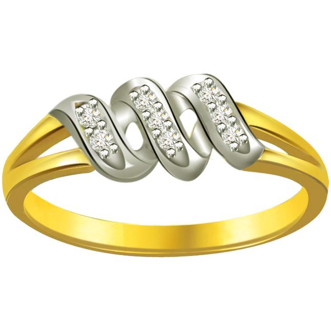 Classic Diamond Gold rings SDR604 -White Yellow Gold rings