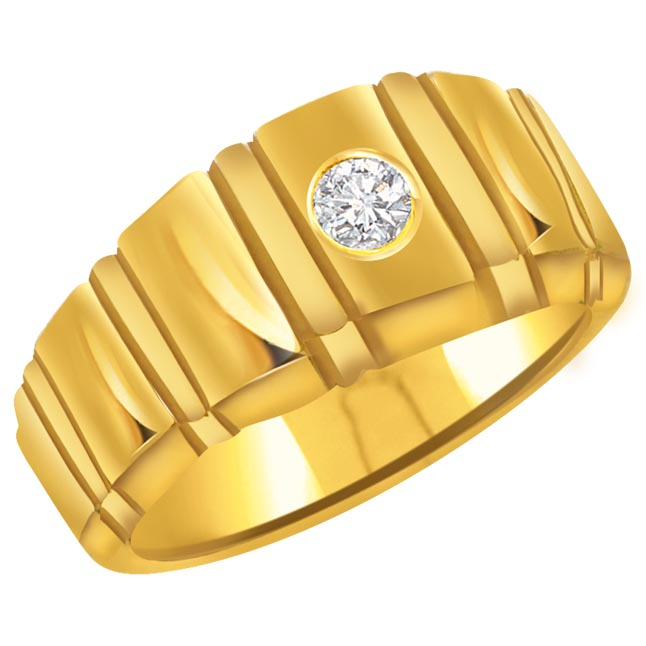 0.09 cts Diamond Men's rings -Solitaire rings