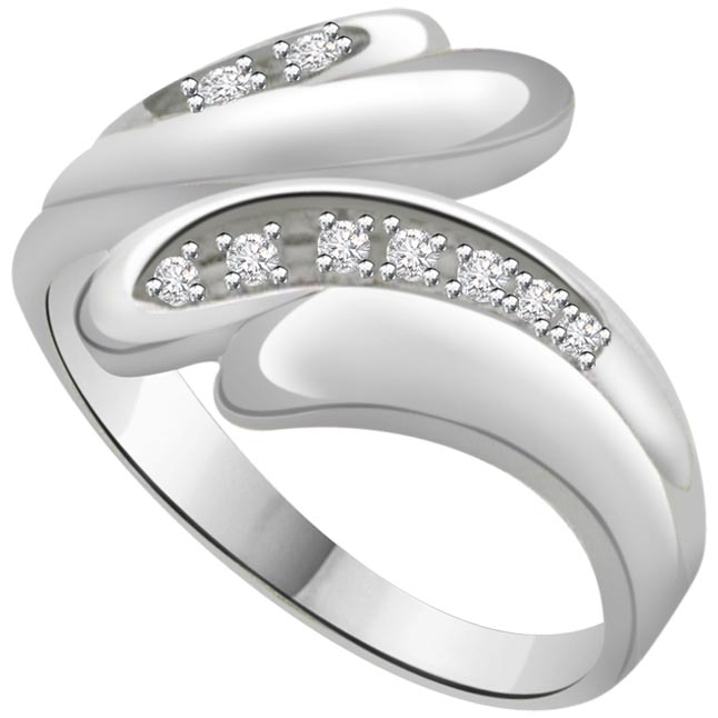 Classic Diamond Gold rings SDR609 -Designer
