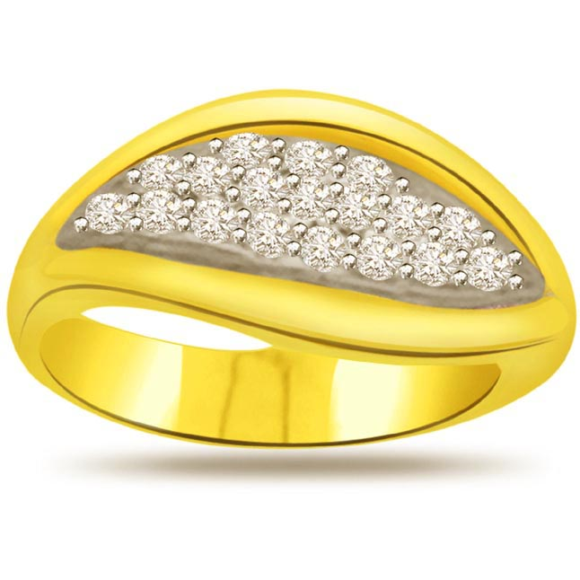 Trendy Diamond Gold rings SDR611