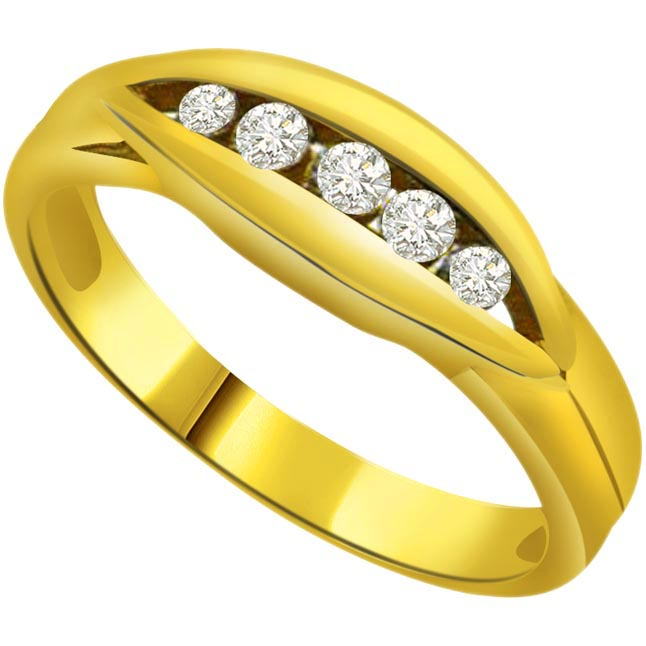 Classic Diamond Gold rings SDR618
