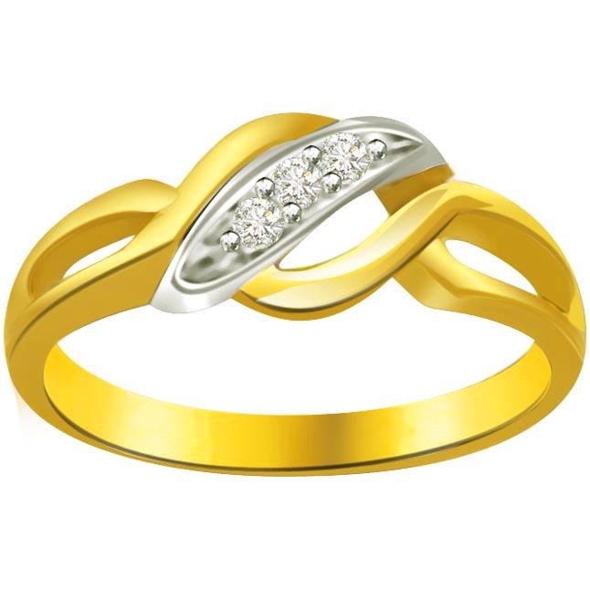 Two -Tone Diamond rings SDR623 -3 Diamond rings