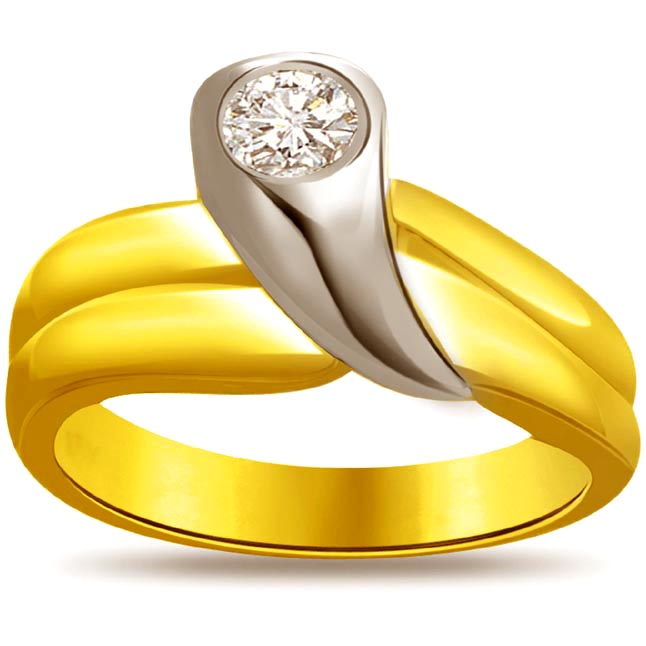 Solitaire Two -Tone Diamond rings SDR627