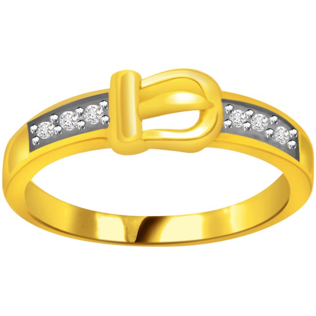 Two -Tone Diamond rings SDR628 -White Yellow Gold rings