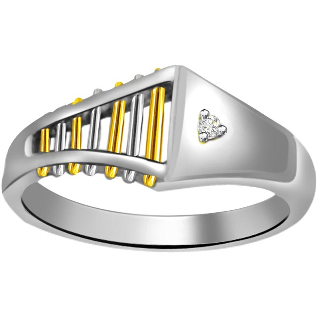 Solitaire Two -Tone Diamond rings SDR630
