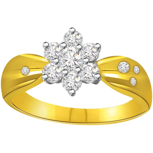Flower Shape Diamond rings SDR631