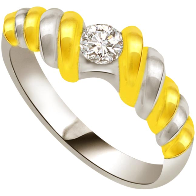 Solitaire Two -Tone Diamond rings SDR635