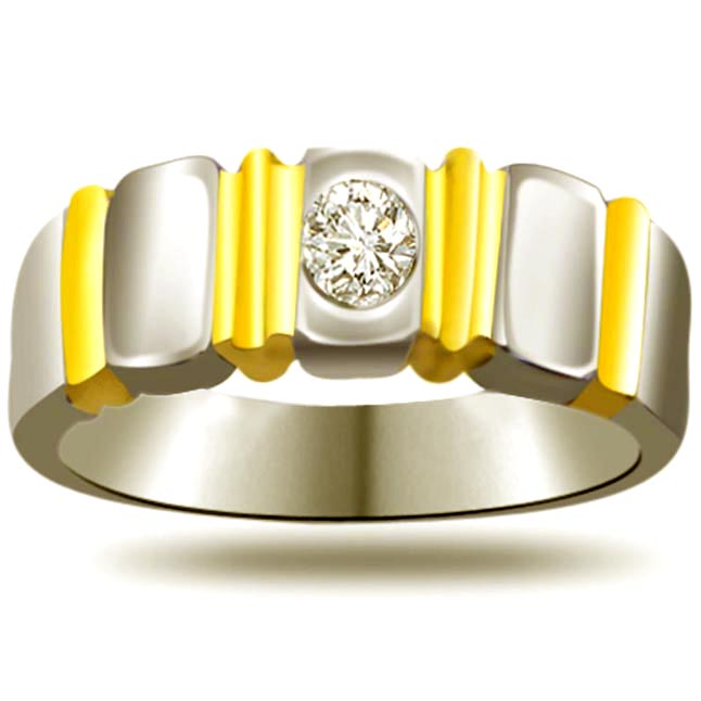 Solitaire Two -Tone Diamond rings SDR647