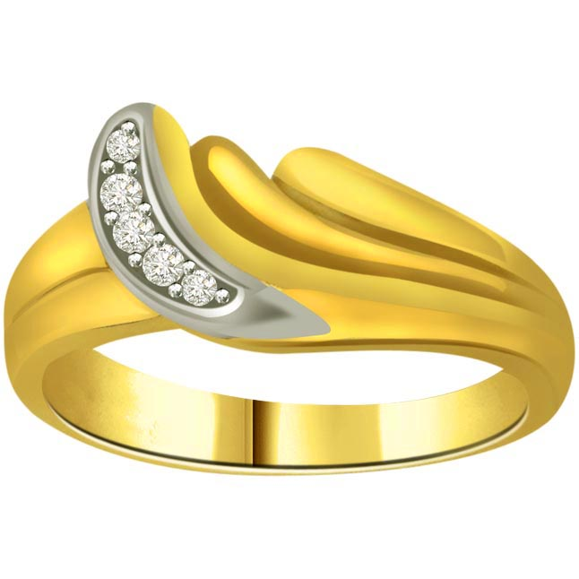 Classic Diamond 18kt Gold rings SDR648 -White Yellow Gold rings