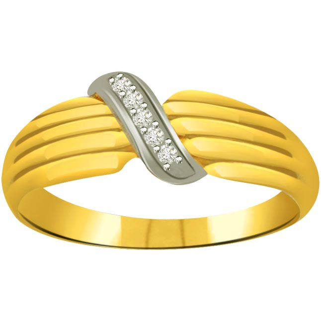 Classic Diamond 18kt Gold rings SDR650 -White Yellow Gold rings