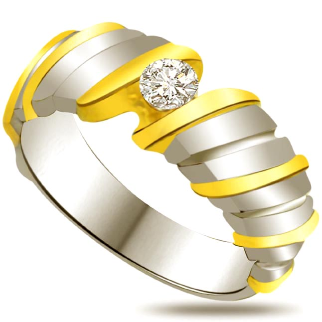 Solitaire Two -Tone Diamond rings SDR652