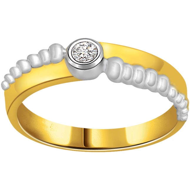 Solitaire Two -Tone Diamond rings SDR655