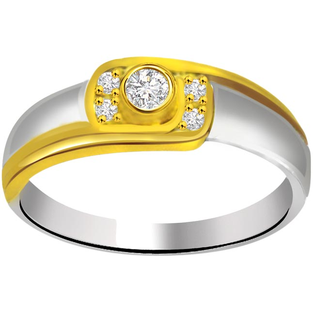 Classic Diamond 18kt Gold rings SDR656 -White Yellow Gold rings