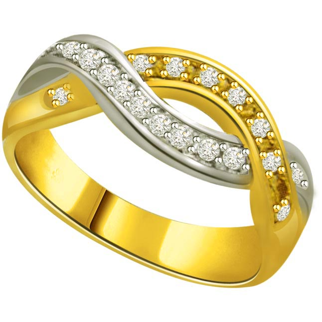 Classic Diamond 18kt Gold rings SDR658 -White Yellow Gold rings
