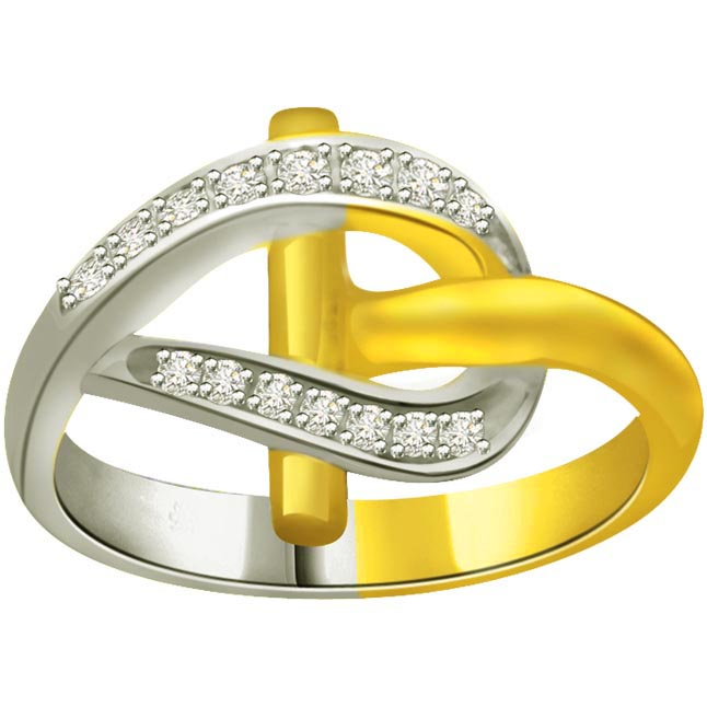 Classic Diamond 18kt Gold rings SDR661 -White Yellow Gold rings