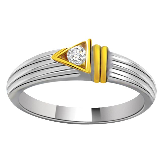 Solitaire Two -Tone Diamond rings SDR663