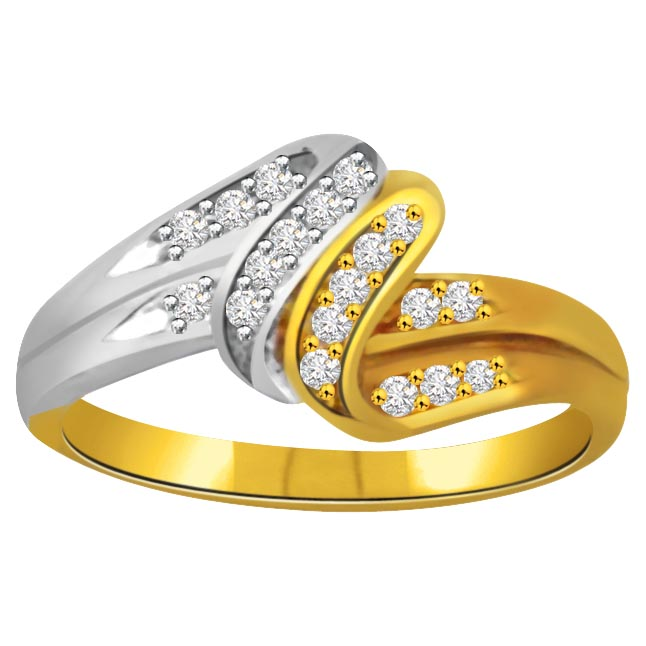 Classic Diamond 18kt Gold rings SDR665 -White Yellow Gold rings
