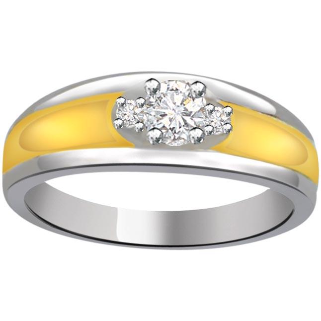 Two -Tone Diamond rings SDR667 -White Yellow Gold rings