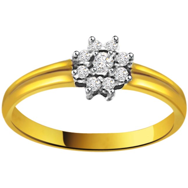 Flower Shape Diamond rings SDR668