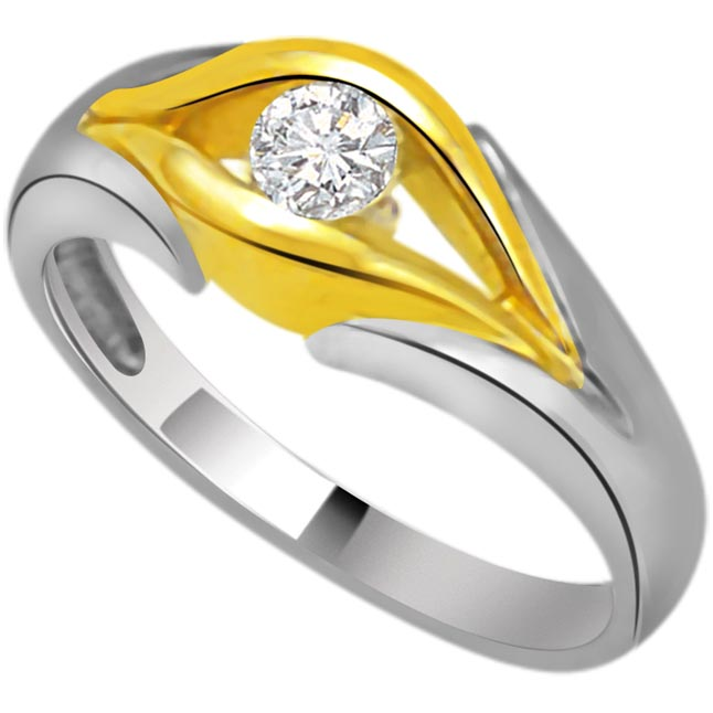 Solitaire Two -Tone Diamond rings SDR669