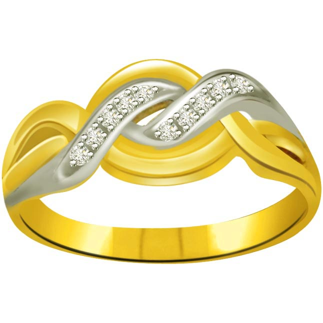 Two -Tone Diamond rings SDR670 -White Yellow Gold rings