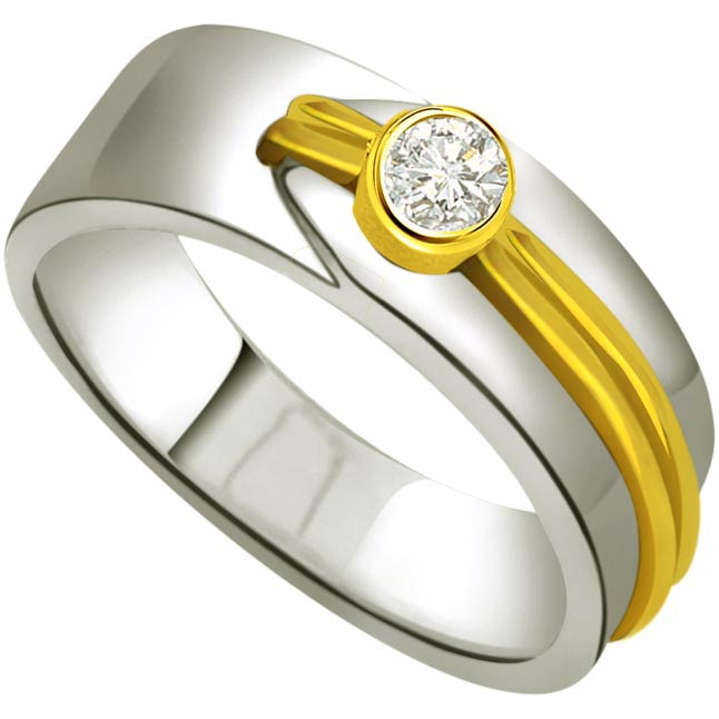 Solitaire Two -Tone Diamond rings SDR672