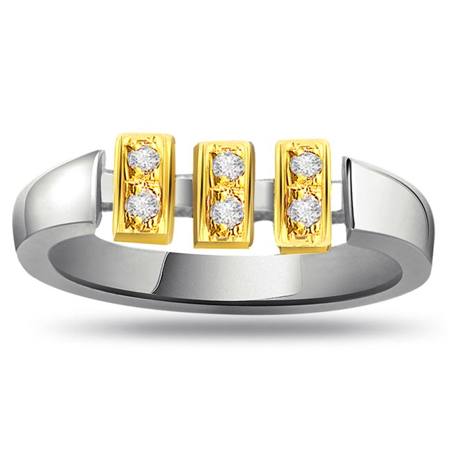 Classic Diamond Gold rings SDR676 -White Yellow Gold rings