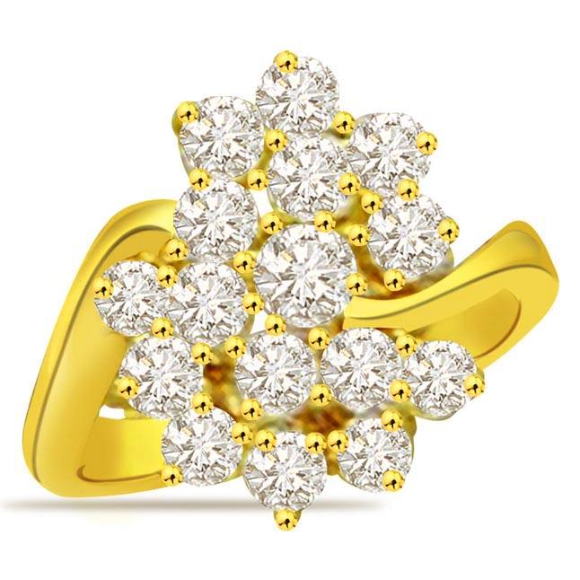 Flower Shape Diamond rings SDR677