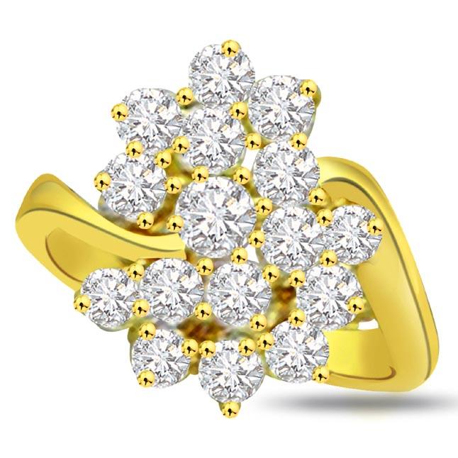Flower Shape Diamond rings SDR678