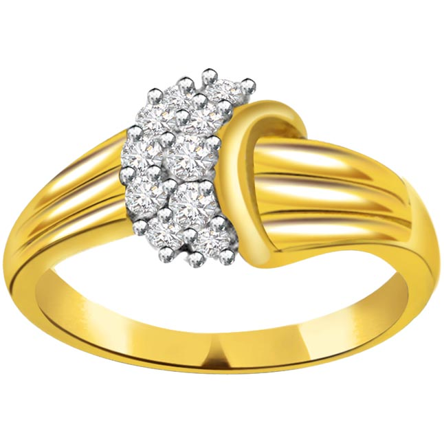 Brilliant Diamond Gold rings SDR681