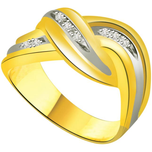 Classic Diamond 18kt Gold rings SDR686 -White Yellow Gold rings