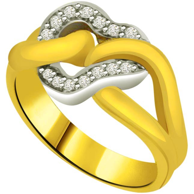 Classic Diamond 18kt Gold rings SDR688 -White Yellow Gold rings