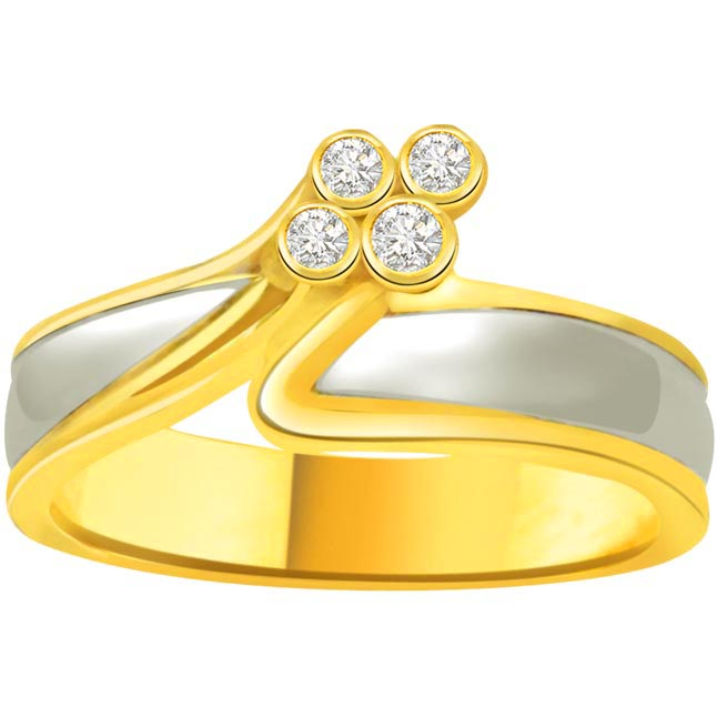Classic Diamond 18kt Gold rings SDR690 -White Yellow Gold rings