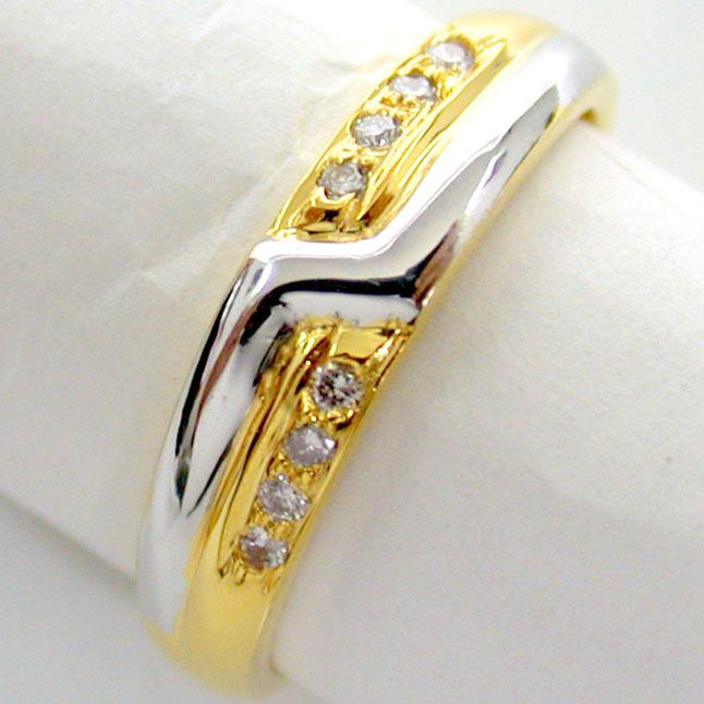 Trendy Diamond Gold rings SDR691 -White Yellow Gold rings