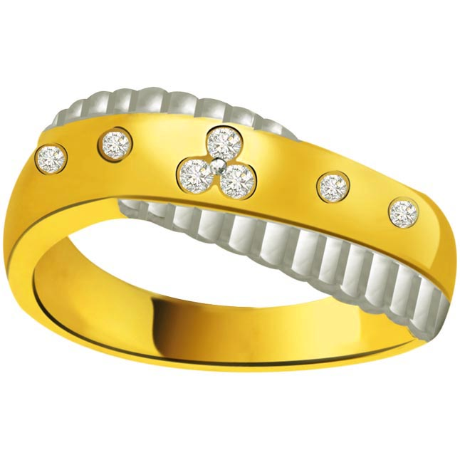 Classic Diamond 18kt Gold rings SDR693 -White Yellow Gold rings