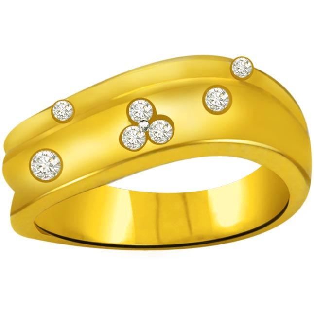 Classic Diamond 18kt Gold rings SDR694
