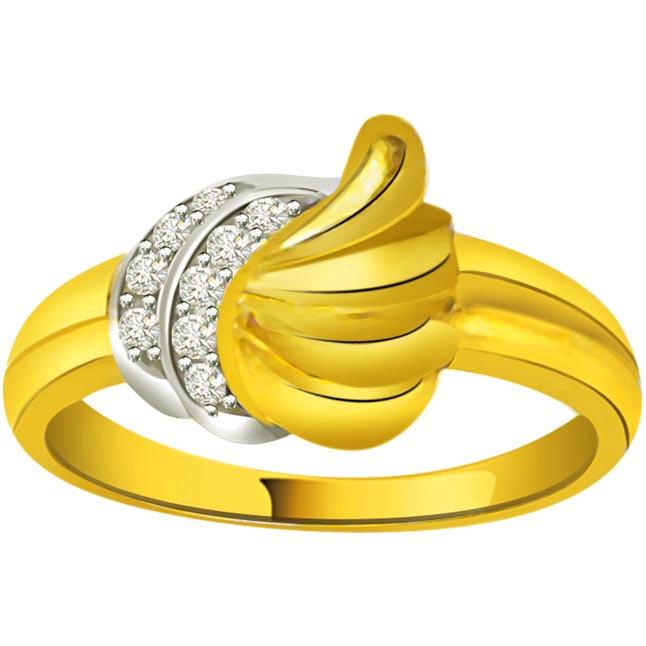 Trendy Diamond 18kt Gold rings SDR696