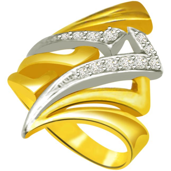 Classic Diamond 18kt Gold rings SDR698 -White Yellow Gold rings