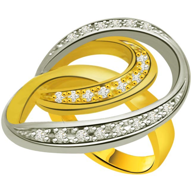 Classic Diamond 18kt Gold rings SDR700 -White Yellow Gold rings
