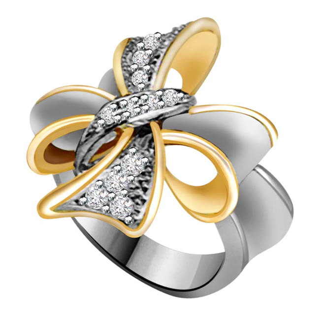 Flower Shape Diamond rings SDR701